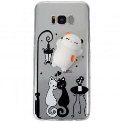 """""""Squezy"""" Cat kieto silikono (TPU) dėklas - skaidrus (Galaxy S8)"""