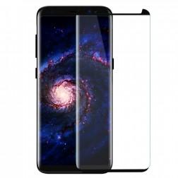 """""""PDGD 3D"""" 9H Tempered Glass pilnai dengiantis apsauginis ekrano stiklas 0.2 mm - juodas (Galaxy S8+)"""