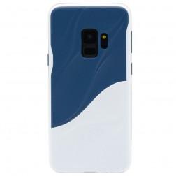 """""""3D"""" Wave Pattern dėklas - mėlynas / baltas (Galaxy S9)"""