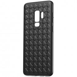 """""""Baseus"""" Weaving dėklas - juodas (Galaxy S9)"""