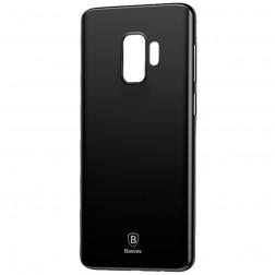 """""""Baseus"""" Wing plastikinis dėklas - juodas (Galaxy S9)"""