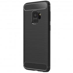 """""""Carbon"""" kieto silikono (TPU) dėklas - juodas (Galaxy S9)"""
