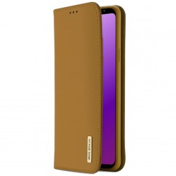 """""""Dux Ducis"""" Wish atverčiamas dėklas - šviesiai rudas (Galaxy S9)"""