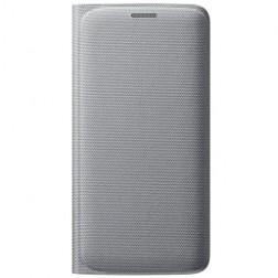"""""""Samsung"""" Flip Wallet Cover atverčiamas dėklas - sidabrinis (Galaxy S6 Edge)"""