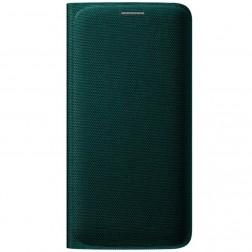 """""""Samsung"""" Flip Wallet Cover atverčiamas dėklas - žalias (Galaxy S6 Edge)"""