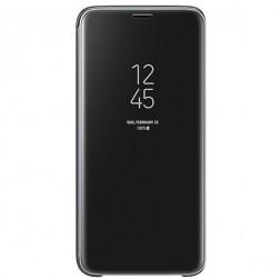 """""""Samsung"""" Clear View Standing Cover atverčiamas dėklas - juodas (Galaxy S9)"""