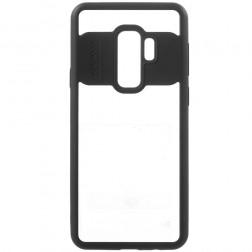 """""""FOCUS"""" dėklas - skaidrus / juodas (Galaxy S9+)"""