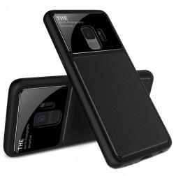 """""""Lenuo"""" Lens dėklas - juodas (Galaxy S9)"""