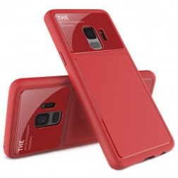 """""""Lenuo"""" Lens dėklas - raudonas (Galaxy S9)"""
