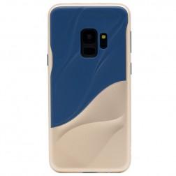 """""""3D"""" Wave Pattern dėklas - mėlynas / auksinis (Galaxy S9)"""
