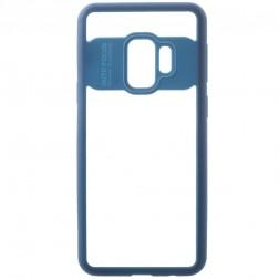 """""""FOCUS"""" dėklas - skaidrus / mėlynas (Galaxy S9)"""