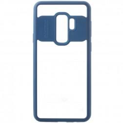 """""""FOCUS"""" dėklas - skaidrus / mėlynas (Galaxy S9+)"""
