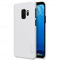 """""""Nillkin"""" Frosted Shield dėklas - baltas + apsauginė ekrano plėvelė (Galaxy S9)"""