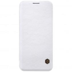 """""""Nillkin"""" Qin atverčiamas dėklas - baltas (Galaxy S9)"""
