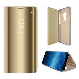 Plastikinis atverčiamas dėklas - auksinis (Galaxy S9+)