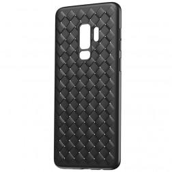 """""""Baseus"""" Weaving dėklas - juodas (Galaxy S9+)"""