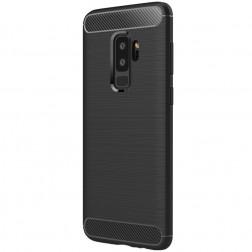 """""""Carbon"""" kieto silikono (TPU) dėklas - juodas (Galaxy S9+)"""