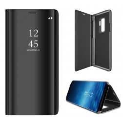 Plastikinis atverčiamas dėklas - juodas (Galaxy S9+)