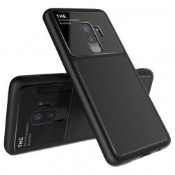 """""""Lenuo"""" Lens dėklas - juodas (Galaxy S9+)"""