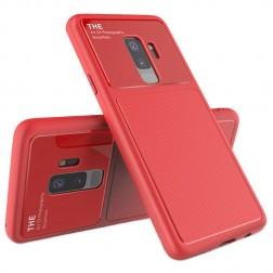 """""""Lenuo"""" Lens dėklas - raudonas (Galaxy S9+)"""
