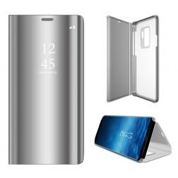 Plastikinis atverčiamas dėklas - sidabrinis (Galaxy S9+)