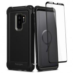 """""""Spigen"""" Pro Guard dėklas - juodas (Galaxy S9+)"""