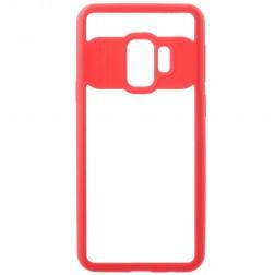 """""""FOCUS"""" dėklas - skaidrus / raudonas (Galaxy S9)"""