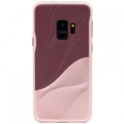 """""""3D"""" Wave Pattern dėklas - bordo / rožinis (Galaxy S9)"""
