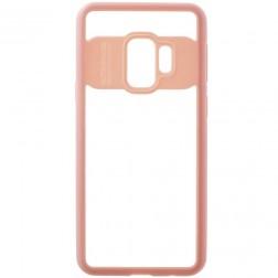 """""""FOCUS"""" dėklas - skaidrus / rožinis (Galaxy S9)"""
