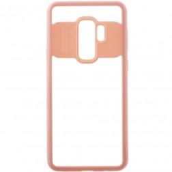 """""""FOCUS"""" dėklas - skaidrus / rožinis (Galaxy S9+)"""