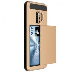 """""""Sliding"""" Card Holder dėklas - auksinis (Galaxy S9)"""