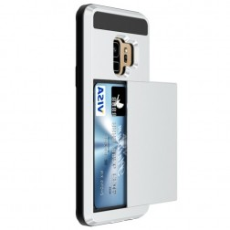 """Sliding"" Card Holder dėklas - sidabrinis (Galaxy S9)"