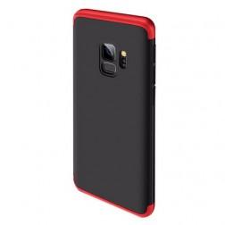 """Thin Fit 360"""" plastikinis dėklas - juodas / raudonas (Galaxy S9)"""