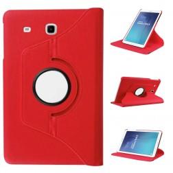 Atverčiamas dėklas (360°) - raudonas (Galaxy Tab E 9.6)