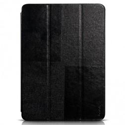 """""""HOCO"""" Crystal atverčiamas odinis dėklas - juodas (Galaxy Tab S 10.5)"""