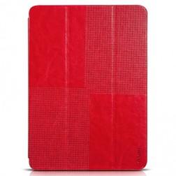 """""""HOCO"""" Crystal atverčiamas odinis dėklas - raudonas (Galaxy Tab S 10.5)"""