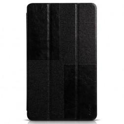 """""""HOCO"""" Crystal atverčiamas odinis dėklas - juodas (Galaxy Tab S 8.4)"""