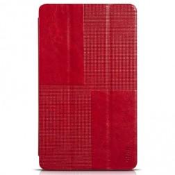 """""""HOCO"""" Crystal atverčiamas odinis dėklas - raudonas (Galaxy Tab S 8.4)"""