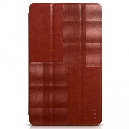 """""""HOCO"""" Crystal atverčiamas odinis dėklas - rudas (Galaxy Tab S 8.4)"""