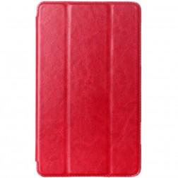 Atverčiamas odinis dėklas - raudonas (Galaxy Tab S 8.4)