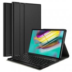 Atverčiamas dėklas su klaviatūra - juodas (Galaxy Tab S5e)