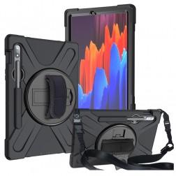 """Sustiprintos apsaugos dėklas - juodas (Galaxy Tab S7 11"""")"""
