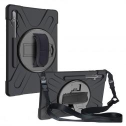 """Sustiprintos apsaugos dėklas - juodas (Galaxy Tab S7+ 12.4"""")"""