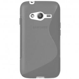 Kieto silikono skaidrus dėklas - pilkas (Galaxy Trend 2)