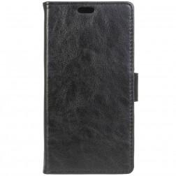 Atverčiamas odinis dėklas - juodas (Galaxy Xcover 3)