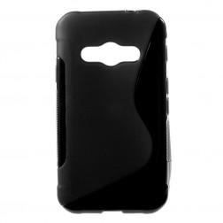 Kieto silikono (TPU) dėklas - juodas (Galaxy Xcover 3)