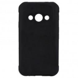 Matinis plastikinis dėklas - juodas (Galaxy Xcover 3)