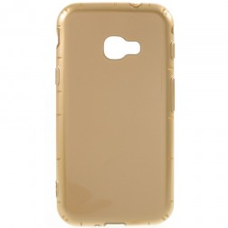 Kieto silikono (TPU) dėklas - auksinis (Galaxy Xcover 4 / 4S)