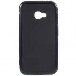 Kieto silikono (TPU) dėklas - juodas (Galaxy Xcover 4 / 4S)
