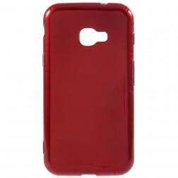 Kieto silikono (TPU) dėklas - raudonas (Galaxy Xcover 4 / 4S)